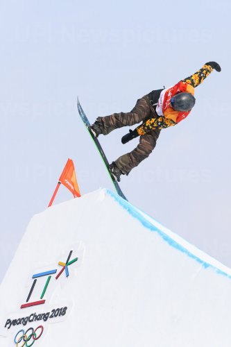 Sweden's Hedberg in slopestyle at Pyeongchang 2018 Winter Olympics