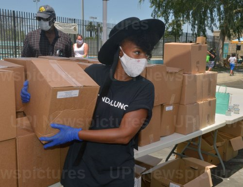 Janelle Monae Distributes Food to Families Impacted by COVID-19 in L.A.