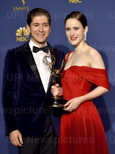 Michael Zegen and Rachel Brosnahan wins award at the 70th Primetime Emmy Awards in Los Angeles