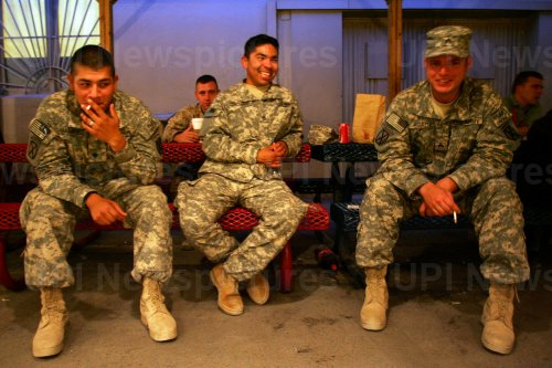U.S. Military Personnel at Afghanistan Base