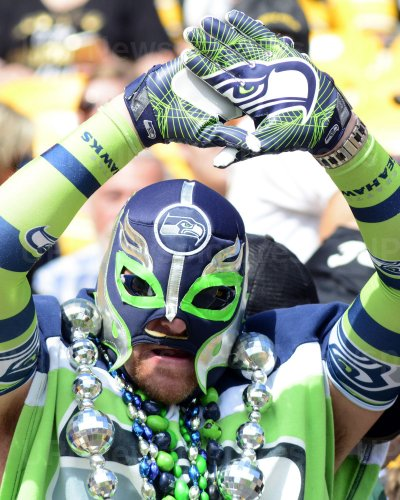 Seattle Seahawks fan at Pittsburgh Steelers Game