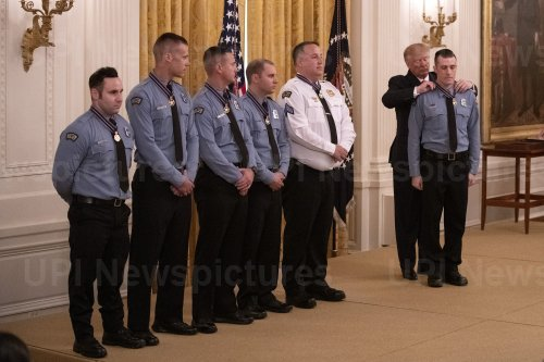 President Trump awards the Medal of Valor to Dayton Officers