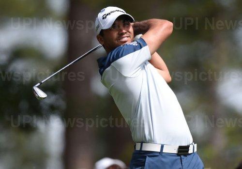 Jason Day hits a tee shot at the Masters