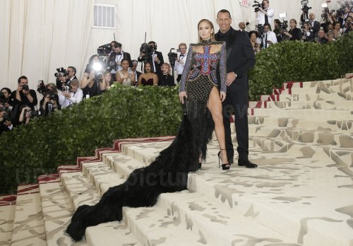 Jennifer Lopez and Alex Rodriguez at the Met Gala in New York