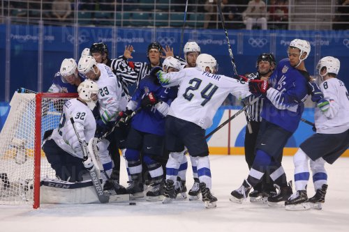 USA Plays Against Slovenia During The Men's Ice Hockey Preliminary Round At The 2018 Pyeongchang Winter Olympics