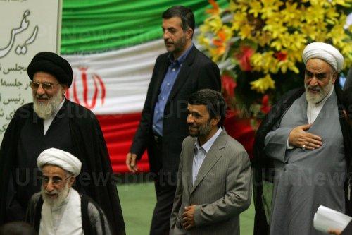 Iran's President Mahmoud Ahmadinejad is sworn in for second term
