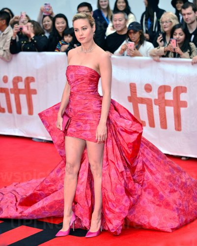 Brie Larson attends 'Just Mercy' premiere at Toronto Film Festival