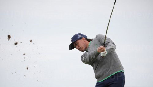 Rickie Fowler on the 1st day of the Open Championship at Royal Portrush