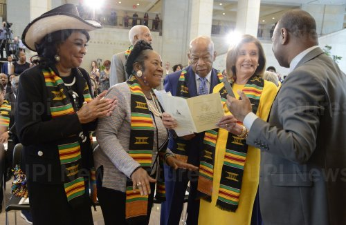 House Speaker Pelosi attends 400th anniversary of the arrival of slaves