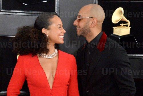 Alicia Keys and Swizz Beatz arrive for the 61st Grammy Awards in Los Angeles