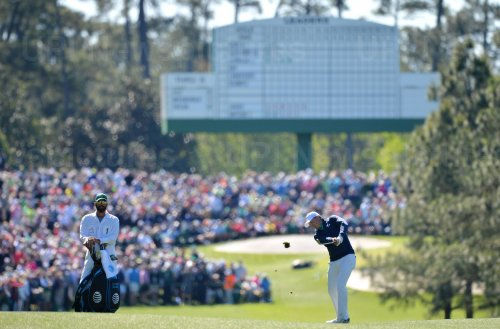 Jordan Spieth and Michael Greller at the Masters