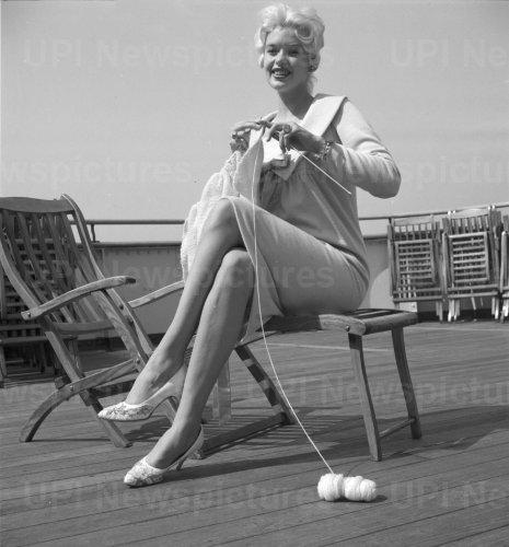 Jayne Mansfield on boat trip