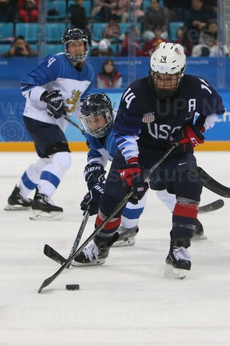 Women's Ice Hockey Semi-Final Game Between The U.S. And Findland At The 2018 Pyeongchang Winter Olympics