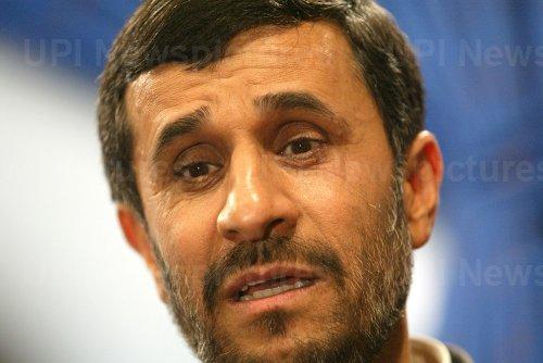 Iran's President Mahmoud Ahmadinejad Holds a Press Conference in Tehran