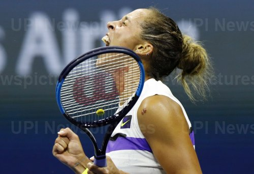 Madison Keys celebrates after a victory at the US Open