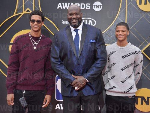 Shareef O'Neal, Shaquille O'Neal, and Shaqir OÕNeal attend the 2019 NBA Awards in Santa, Monica, California