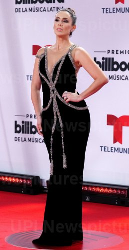 Jacqueline Bracamontes  walks the red carpet at the 2020 Latin Billboard Awards in Sunrise, Florida