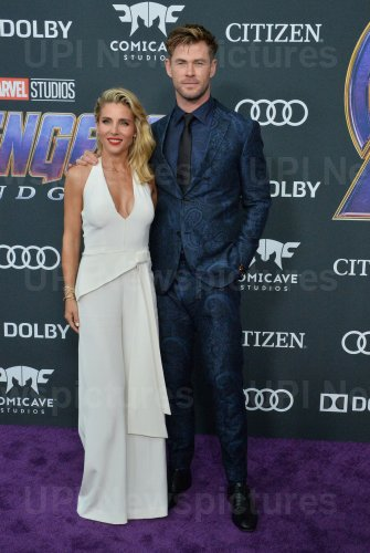 "Chris Hemsworth and Elsa Pataky attend ""Avengers: Endgame"" premiere in Los Angeles"