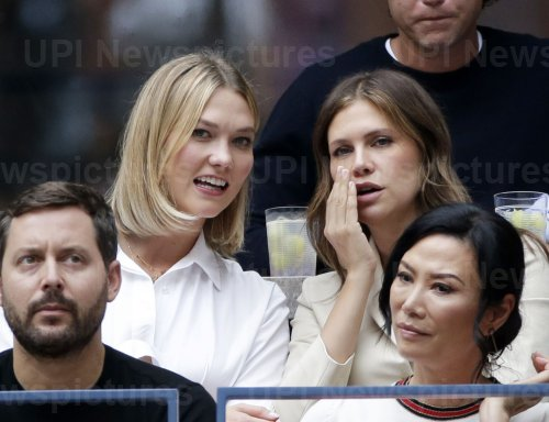 Karlie Kloss watches the Men's Final at the US Open