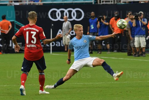 International Champions Cup match between FC Bayern vs. Manchester City at Hard Rock Stadium, Miami