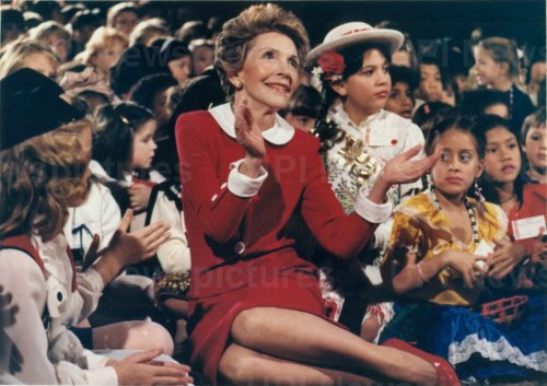 Nancy Reagan at White House Christmas Party for Children of Diplomatic Corps