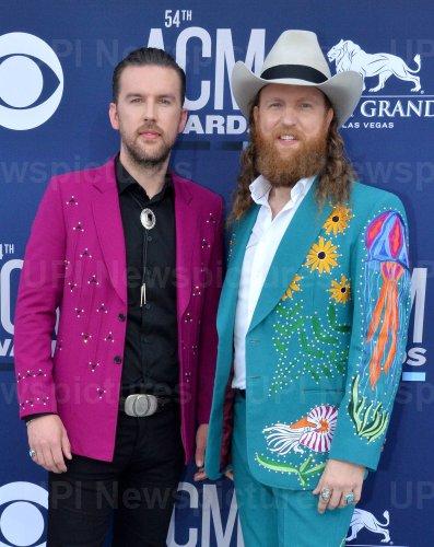 T.J. Osborne and John Osborne attend the Academy of Country Music Awards in Las Vegas