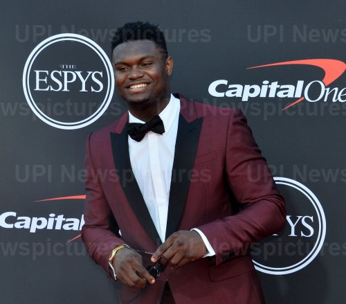 Zion Williamson attends the 27th annual ESPY Awards in Los Angeles