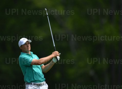 Jordan Spieth hits a tee shot  at the Masters