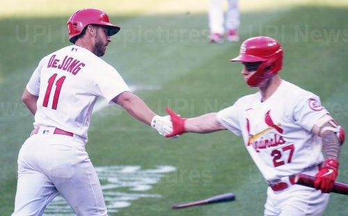 St. Louis Cardinals Paul DeJong Hits Two Run Home Run