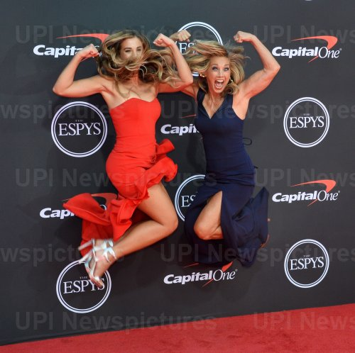 Katie Austin and Denise Austin attend the 27th annual ESPY Awards in Los Angeles