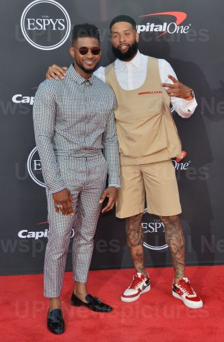 Usher and Odell Beckham Jr. attend the 27th annual ESPY Awards in Los Angeles