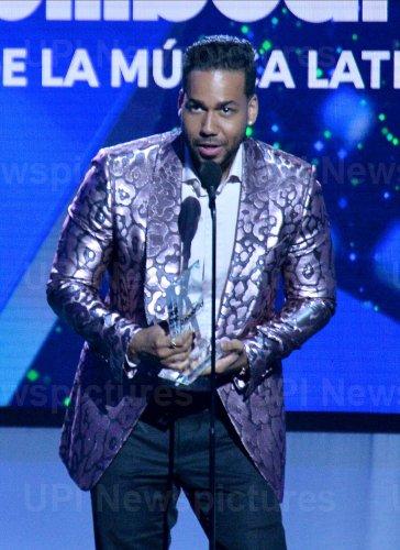 Romeo Santos wins award at the Billboard Latin Music Awards in Las Vegas