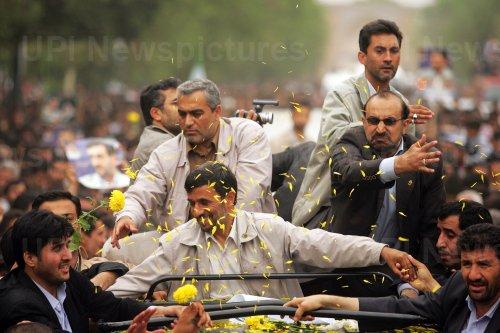 Iran's President Mahmoud Ahmadinejad visits Qazvin city during his 57th provincial tour