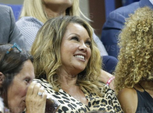 Vanessa Williams watches tennis at the US Open