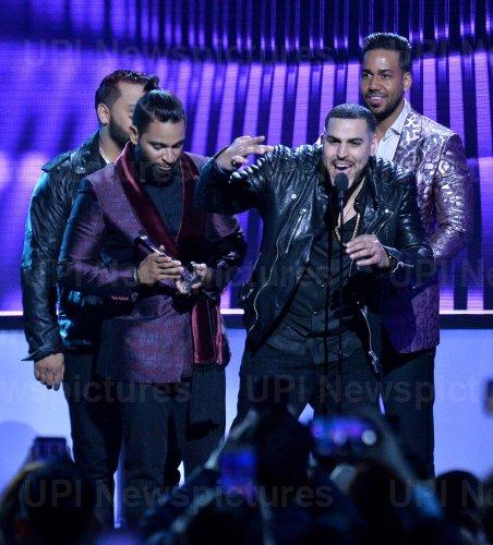 Aventura wins award at the Billboard Latin Music Awards in Las Vegas