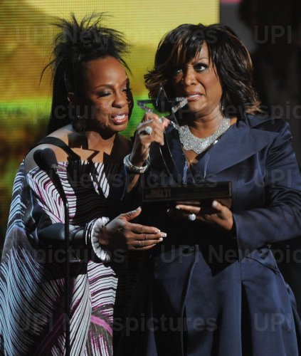 Patti LaBelle accepts Lifetime Achievement award at the BET Awards in Los Angeles