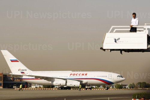 Russian President Vladimir Putin arrives in Tehran