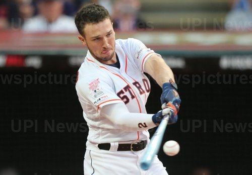 Astros' Alex Bregman during the MLB All-Star Home Run Derby in Cleveland, Ohio
