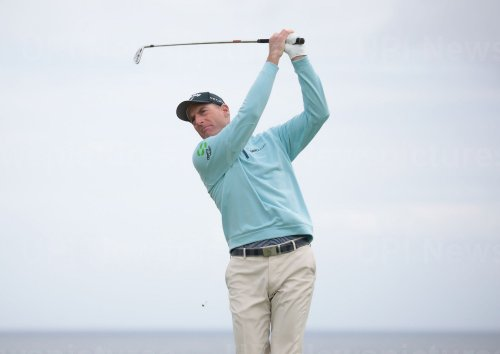 Jim Furyk on the 1st day of the Open Championship at Royal Portrush