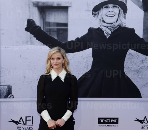 Reece Witherspoon arrives for AFI's Life Achievement tribute gala in Los Angeles