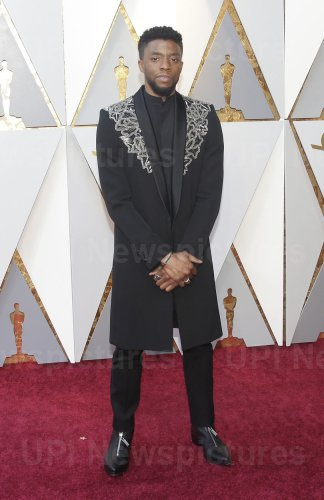 Chadwick Boseman arrives at the 90th Annual Academy Awards in Hollywood