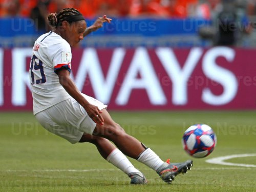 Team USA vs the Netherlands at the FIFA Women's World Cup Final in Lyon