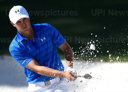 Jordan Spieth hits a shot out of the bunker at the Masters