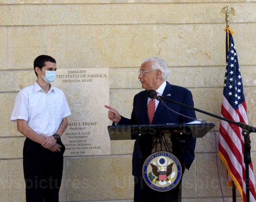 U.S. Ambassador To Israel Friedman With New Passport Holder In Jerusalem