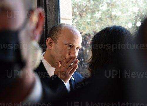 Israeli Prime Minister Naftali Bennett Speaks To Interior Minister Ayelet Shaked In Jerusalem