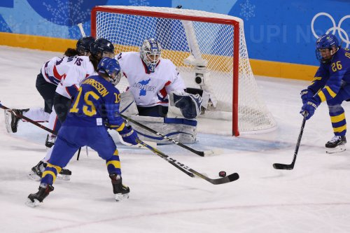 Women's Ice Hockey Classifications Game Between The Joint North And South Korea Team and Sweden At The 2018 Pyeongchang Winter Olympics