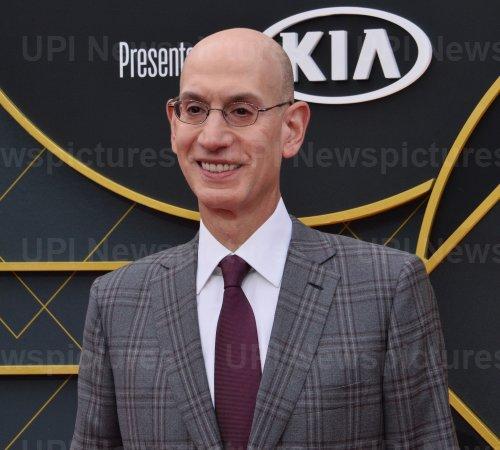 Adam Silver attends the 2019 NBA Awards in Santa, Monica, California