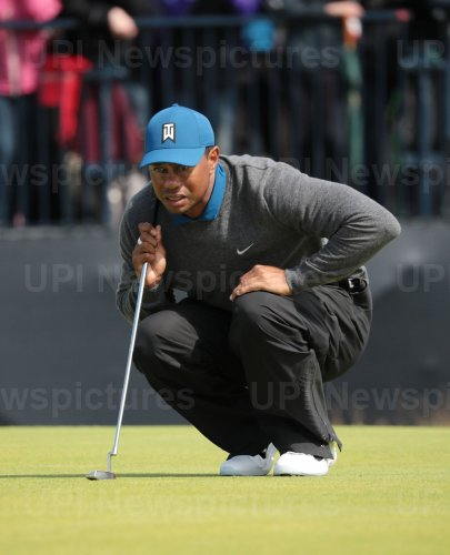 Tiger Woods on the 1st day of the Open Championship at Royal Portrush