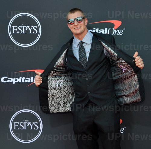 Rob Gronkowski attends the 27th annual ESPY Awards in Los Angeles
