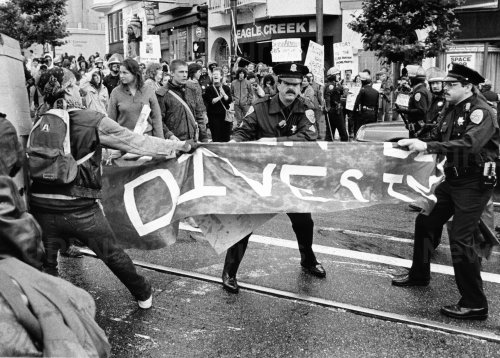 Anti Apartheid Protests at UC in San Francisco